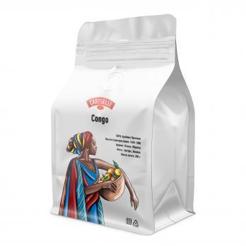 Свежеобжаренный кофе в зёрнах арабика 100% Конго 200 грамм