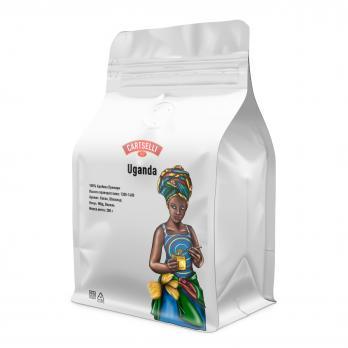 Свежеобжаренный кофе в зёрнах арабика 100% Уганда 200 грамм